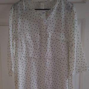 H & M tunic blouse size 14